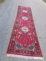 Lilian gyönyörű kézi csomózású gyapjú futó szőnyeg 300cmx75cm