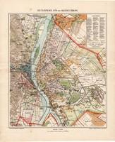 Budapest fő- és székváros térkép 1907, eredeti, atlasz, Kogutowicz Manó, magyar nyelvű, régi