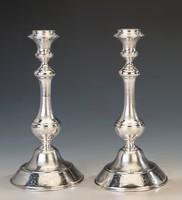 Ezüst gyertyatartó párban