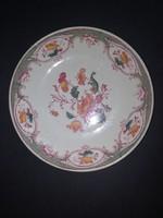 Antik virág mintás angol porcelán tányér - EP