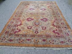 Pompás Antik Tebriz gyönyörű szép gyűjtői,értékes kézi csomózású gyapjú szőnyeg 307cmx218cm