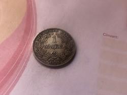 """1896""""E"""" ezüst 1 márka,Ritka!!! gyönyörű patina!!!"""