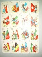 Préselt képek - 16 db zászlók Magyarország és Német Birodalmi - horogkeresztes svasztika
