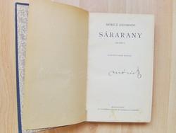 Móricz Zsigmond: Sárarany.- ALÁÍRT- 11. kiadás. Bp. é.n. Atheneum.