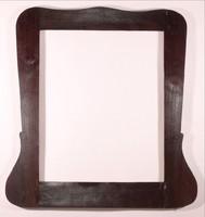 Szecessziós tükörkeret  politúrozott diófa