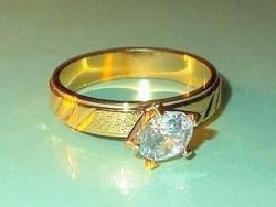 Mest. Gyémánt  köves Arany GF. Gyűrű 7-es