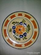 Népi kerámia tányér, falitányér
