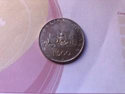 1961 ezüst 500 líra 11 gramm 0,835