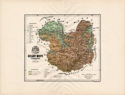 Szilágy megye térkép 1888 (3), vármegye, atlasz, eredeti, Kogutowicz Manó, 43 x 57 cm, Gönczy Pál