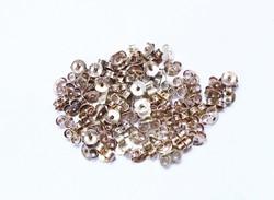 80 darab ezüst beszúrós fülbevaló rögzítő.