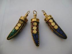 Viktorianus időkből származó drágaköves dublé arany csakra medál  cca 1880 évek