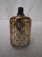 EZÜSTÖZÖTT - vagy ezüst -  régi - kicsi - parfümös üveg 6 x 3 x 2 cm vastag fém - TETEJE NINCS !!