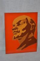 Zománcos Lenin kép