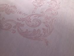 Selyemdamaszt púderrózsaszín asztalterítő 6 szalvétával 160 x 125