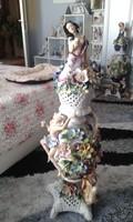 Hatalmas méretű porcelán fedeles váza