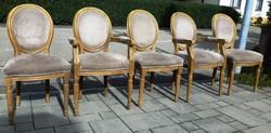 XVI.Lajos 3db szék és 2 karosszék