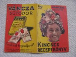 Váncza sütőporos receptkönyv