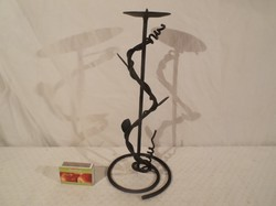 Metal - candle holder 27 x 11 cm wrought iron - custom made