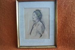 Báró Hatvany Ferenc (1881-1958): Női portré - hofsz
