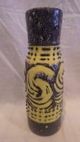 Zsűrizett retro iparművész kerámia váza 27,5 cm