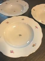 Zsolnay mély leves tál, tányér 3 darab