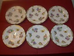 Herendi Viktória Rocaille desszert tányérok. 1520VBO.