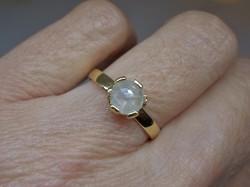 Különleges 0,66ct gyémánt  14kt aranygyűrű