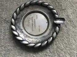 Antik ezüst hamutartó, hamuzó, 9,5 cm.