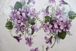 Antik Ibolya virágos  mosdó szett