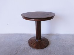 0C521 Antik legyező lábas kisméretű körasztal