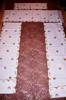 Exkluzív Viktória mintásra hímzett függöny 2 db drapériával