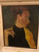 Márffy Ödön jelzéssel női portré