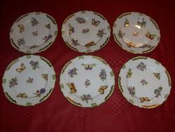 Herendi Viktória mintás  csemegés tányérok. 6 db. 23 cm átmérőjű.