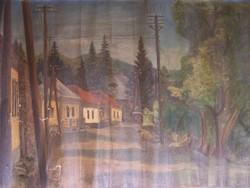 ALKALMI ÁR ! Ismeretlen festő XX: sz. eleje: Árnyas utca