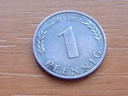 NÉMET NSZK 1 PFENNIG 1950 J
