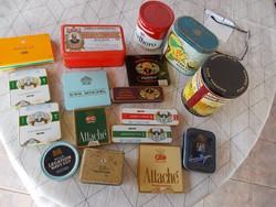 Régi Fém cigareta doboz, 17 darab