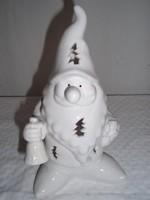 Mécsestartó - hófehér - porcelán 21 x 14 cm