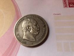 1874 ezüst 5 márka ritkább szép db 27,7 gramm 0,900