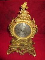 Francia bronz barokk tüziaranyozott óra