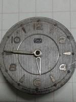 UMF Ruhla számlap, 28,41 mm, óraszerkezettel