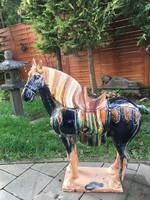 Kinai hárommázas Tang stílusú, giga kerámia ló