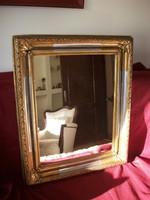 Antik bieder fali tükör restaurálva