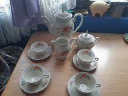Virágmintás teás,kávés készlet