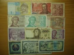 Régipénz gyűjtemény , 12 db külföldi