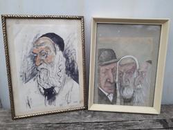 Rabbi / portré / vegyes technika.