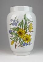 0T874 Napraforgós Zsolnay porcelán váza 26.5 cm