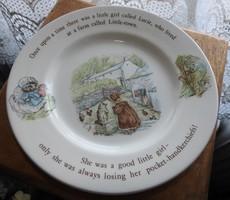 Angol mesemintás WEDGWOOD & Barlaston of Etruria  tányér Mrs. Tiggy - Winkle