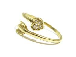 Köves női arany gyűrű ( Kecs-Au71517 )