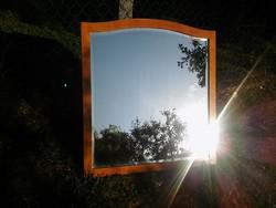 Gyönyörű csiszolt üveges elegáns nagy fali tükör