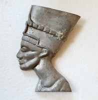 Régi egyiptomi fáraó fej fém dísz